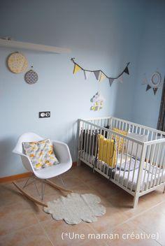 Déco chambre bébé grise et vert menthe | Bébé | Pinterest