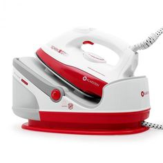 Steam Iron Generator Non Stick Sole Plate Station Litre Vertical Red for sale online Steam Generator Iron, Ironing Station, Best Iron, Station 1, Stainless Steel Plate, Steam Iron, Electronic Devices, Water Tank, Home And Living