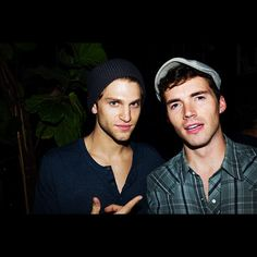 Keegan Allen and Ian Harding on the set of Pretty Little Liars. Can two people actually be that hot!!!!!