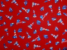 Sailing Cotton Poplin Red | Textile Express | Buy Fabric