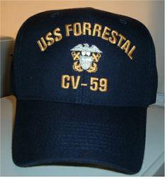 USS FORRESTAL CV-59 w/ OFFICERS CREST
