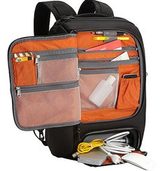 Laptop backpacks with uber storage & organization but don't look out of place in an office.