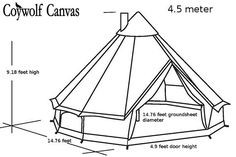 Original Coywolf Bell Tent for Glamping--Festival Tent-Yurt-.- Original Coywolf Bell Tent for Glamping–Festival Tent-Yurt-Bohemian Style-Garden style 16 ft round-high quality canvas Add - Bell Tent Camping, Camping Gear, Camping Chairs, Camping Equipment, Single Doors, Double Doors, Canvas Bell Tent, Wall Tent, Diy Tent