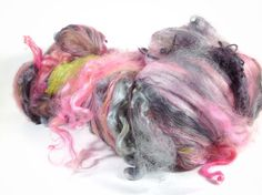 5.2 oz 147 grams luxury art batt for the art yarn spinner full of teeswater x wensleydale cross locks baby suri locks and sparkles
