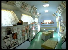 This is an Airstream Re-purposed Ingeniously as a library.  As libraries contract, a return to the book-mobile may be something to consider.
