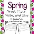 Handwriting practice with a spring theme while your students write their high-frequency. Students will read, write, re-arrange, and illustrate sent...