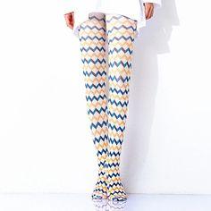 [leggycozy] Kawaii Elegant Two-Color Radio Wave Check Pantyhose Stocki Radio Wave, Leg Warmers, Pajama Pants, Pajamas, Stockings, Waves, Kawaii, Elegant, Check