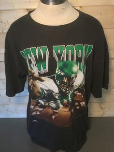 e93eb29ec Vintage 1990 s New York Jets Football PRINT all Over T-Shirt NFL Made in USA