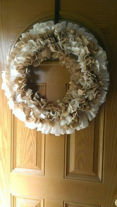 Rag wreath...love the pattern of this one