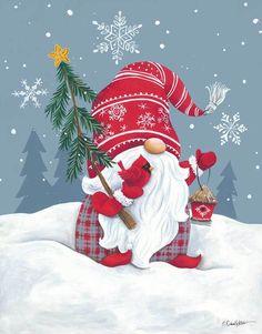 Christmas Gnome, Christmas Art, Christmas Decorations, Xmas, Christmas Ornaments, Christmas Drawing, Christmas Paintings, Illustration Noel, Illustrations