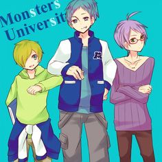 Monsters University, anime style