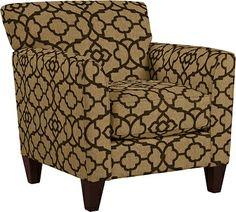 Allegra Stationary Occasional Chair by La-Z-Boy (fabric Gatework in walnut)