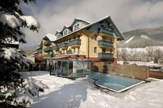 Hotel Mitterhofer in Schladming Hotel Austria, Travel Hotel, Das Hotel, Outdoor Pool, 4 Star Hotels, Terrace, Cabin, Mansions, House Styles