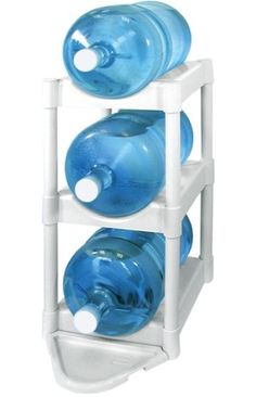 Great for storing 5 gallon water bottles and saving space. $30.00 On Amazon