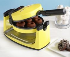 babycakes donut maker!! so easy to use and comes with a recipe book! when the donuts are done u can dip them in glaze and sprinkles and they look gorgeous!! use them for parties, friends birthdays, etc.