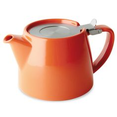 The ForLife teapot with infuser enables you to brew fine teas such as Rooibos tea to large whole-leaf teas like Oolong tea. Online Tea Store, Red Teapot, Tea For One, Oolong Tea, Tea Stains, Ceramic Teapots, Tea Infuser, Tea Kettles, Loose Leaf Tea