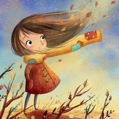 Illustrations by Lucy Fleming Art And Illustration, Character Illustration, Illustrations Posters, Autumn Art, Autumn Leaves, Art Graphique, Belle Photo, Cute Drawings, Cute Art