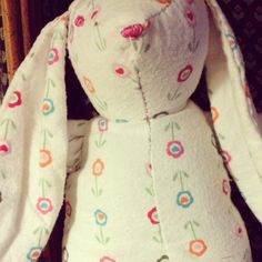 My version (in flannel) of the Soft Woolen Bunny project from @M. A. #diy #Easter #sewing