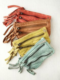 Free People distressed double zip wallet by brandi