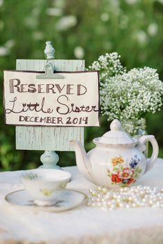Adorable tea party birth announcement | The Frosted Petticoat