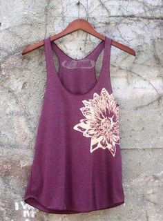 Purple Lotus Tank - click to see more colors and styles.