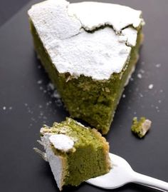 Green tea and chocolate gateaux, served at Lanka Patisserie in London, run by French & modern British cuisine Japanese chef Masayuki Hara, specialising in homemade French-style cakes and serving only pure Ceylon teas