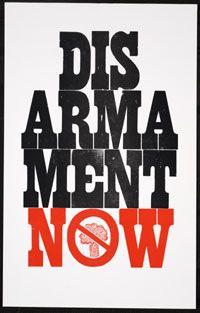 Disarmament Now / William Rueter Aliquando Press, 1982