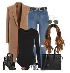 """Set 571 -"" by xjulie1999 ❤ liked on Polyvore featuring River Island, Yves Saint Laurent, Wolford, Salvatore Ferragamo, Riedel, Ray-Ban, Lime Crime and Topshop"