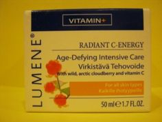 Lumene Radiant C-energy Age-defying Intensive Care by Lumene. $12.93. with wild, arctic cloudberry & vitamin C. For all skin types. contains 1 - 1.7 fl.oz. jar