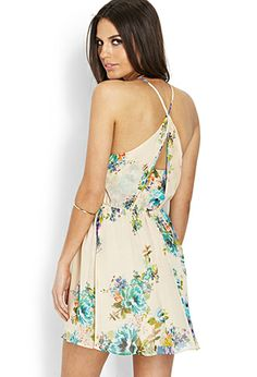 Sunday Morning Woven Dress | FOREVER21 - 2000063435. this is probably way too short for me, but his is just so pretty! maybe a swimsuit coverup??