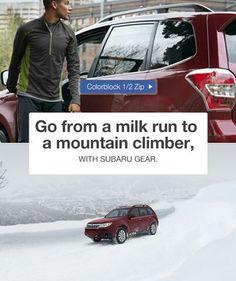 Go from a milk runner to a mountain climber with Mountain Climbers, Subaru, Milk, Hiking, Outdoors, Mountains, Outdoor, Trekking, Exterior
