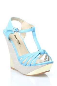 Tyler Wedges in Light Blue. These could make an outfit really special