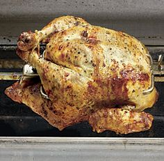 SPIT-ROASTED CHICKEN WITH TARRAGON BUTTER *Grill http://www.finecooking.com/recipes/spit-roasted-chicken-tarragon-butter.aspx