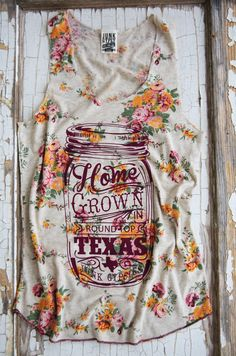 HOMEGROWN country FLORAL tank  - Junk GYpSy co.