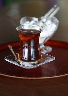 Turkish Tea As a self proclaimed tea nerd This is delicious I suggest drining it at tavşan kanı which is the medium strength brew, Koyu is dark, and acik is light