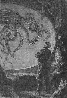 """""""No necesitamos continentes nuevos, sino personas nuevas"""". -- Julio Verne, Veinte mil leguas de viaje submarino. From Bibliophilia at Twitter."""