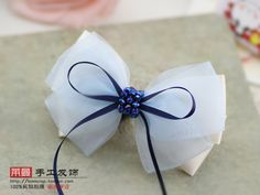 (MIN ORDER $15)South Korean office lady beaded handmade bow clip p161-in Hair Accessories from Apparel & Accessories on Aliexpress.com