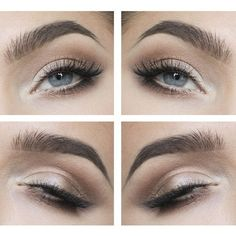 How to Green Eyes Makeup For Daytime Step By Step ❤ liked on Polyvore featuring beauty products, makeup, eye makeup, eyes and beauty