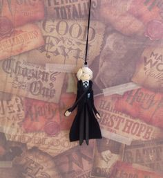 Draco Malfoy Clothespin Doll Ornament by LittleParade on Etsy