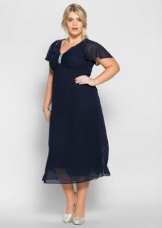Shop for Curvissa Plus Size Chiffon, Plus Size Fashion, Curves, Cold Shoulder Dress, Short Sleeve Dresses, Shopping, Design, Products, Gowns