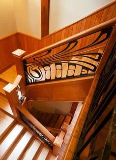 """west coast nouveau""Jake James...artist blacksmith....victoria..british columbia... Great idea - NW Coast design for stair bannisters. via John Cannell Facebook."