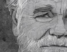 Philip Seymour Hoffman Portrait by Stavros Damos, via Behance Philip, Artist Inspiration, Elements Of Art, College Art, Philip Seymour Hoffman, Graphic Design, Illustration Art, Face Drawing, Portrait