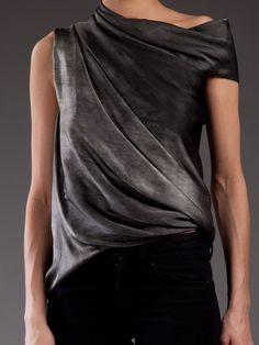 La Petite S***** - Silk Asymmetric Drape Top