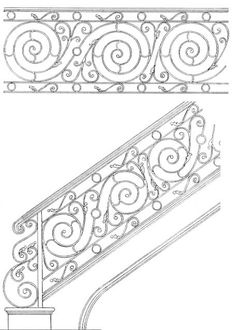 Stair Railing Designs ISR096