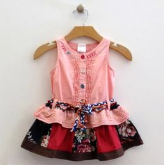 Patchwork Tiered Dress with Belt - Sweet for Summer: Silly Sissy & Mini Sissy - Events