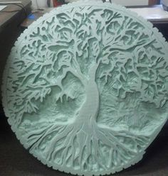 Tree of Life, they  used the Freehand Router and the Hot Knife for the Slice of Life sculpture. Polystyrene carving