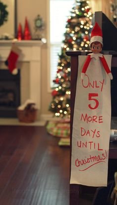a special message from The Elf on the Shelf