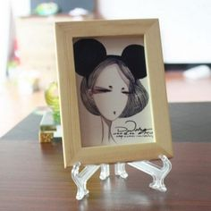 Fashion Home/Office Decoration Clear Plastic Plate Display Stand Picture Frame E