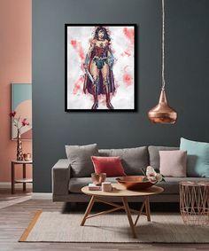 WONDER WOMAN Wonder Woman Poster Wonder Woman Digital   Etsy