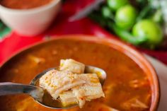 One of Mexico's most restorative, fortifying, and aromatic soups, menudo is made with beef tripe, hominy, chiles, onion, oregano, and garlic. Easy recipe.